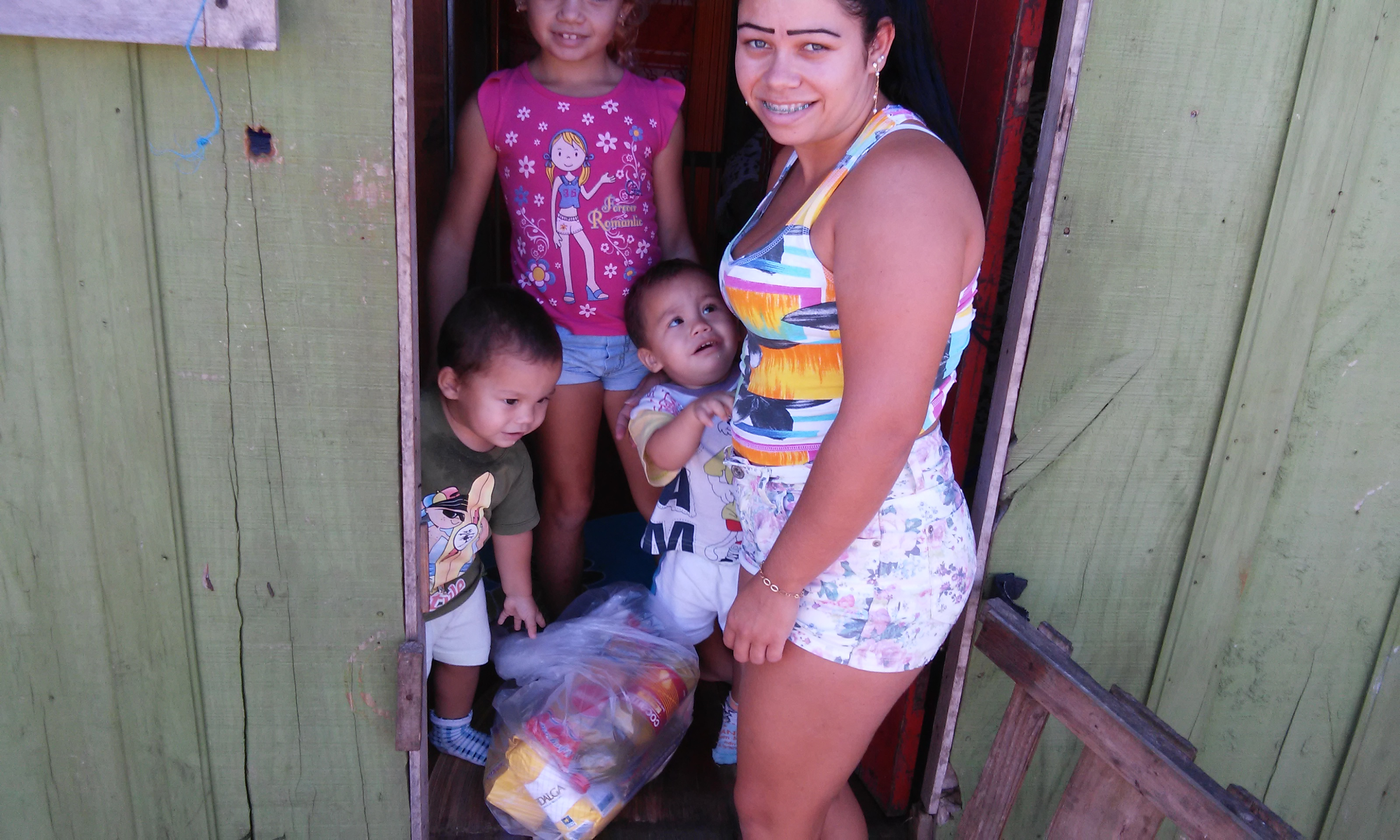 This family is one of many that benefit from the feeding ministry in Capão da Canoa.